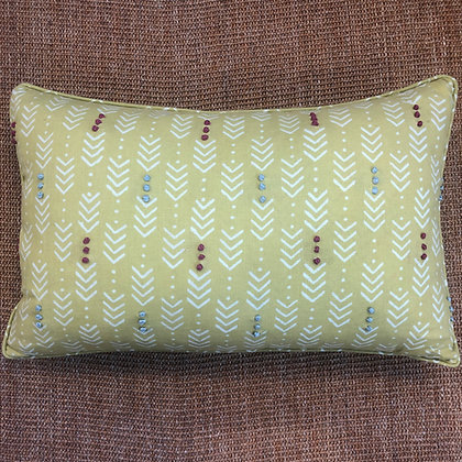 Jiva Mustard Green cushion