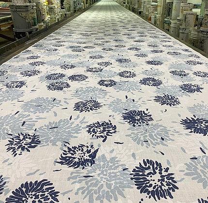 Tillett Textiles Chrysanthemum Blue