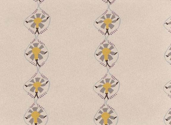 Mally Skok Samode Wallpaper Taupe Yellow (on Neutral)