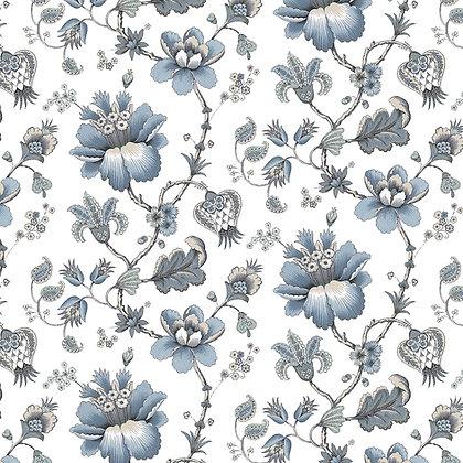 Stoke Lane Francis Floral Duckegg