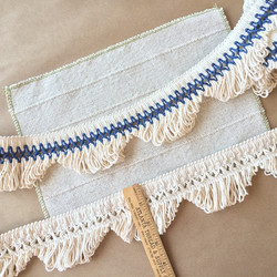3in Scalloped Lace Fringe in Natural Cot