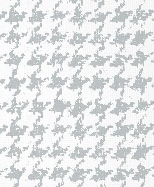 Tillett Textiles Houndstooth Metallic Silver