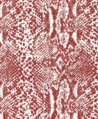 Tillett Textiles Snakeskin Deep Coral
