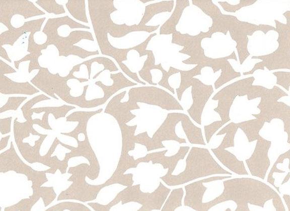 Mally Skok Rohet Wallpaper White Taupe (on Neutral)