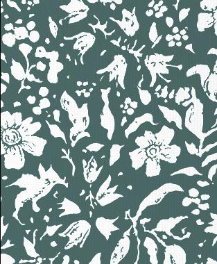 Tillett Textiles Wild Flower Blotch Deep sea