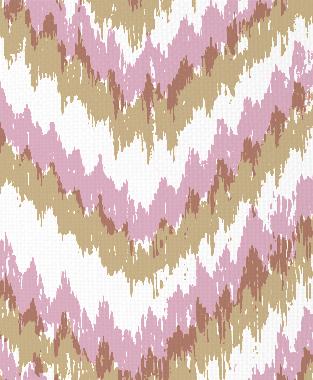 Tillett Textiles Ikat Timer Khaki & Pink Pansey