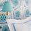 Thumbnail: Mally Skok Suzani Luv Blue on White