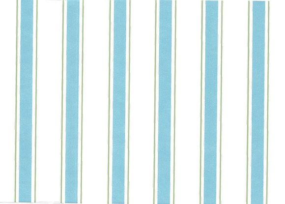 Mally Skok Indian Stripe Wallpaper Aqua/Lime