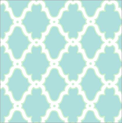 Ferran Textiles Wallpaper Lattice Seaglass