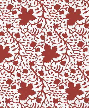 Tillett Textiles Seagrapes Deep Coral
