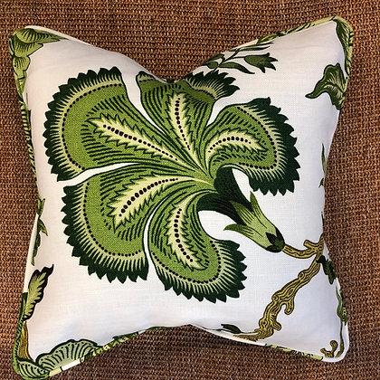 Hot House Flowers Dark Green Cushion