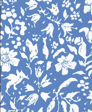 Tillett Textiles Wild Flower Blotch Blue Lapis