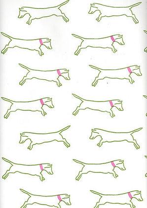 Mally Skok Isabella Wallpaper Lime/Pink