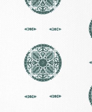 Tillett Textiles Medallion Deep sea