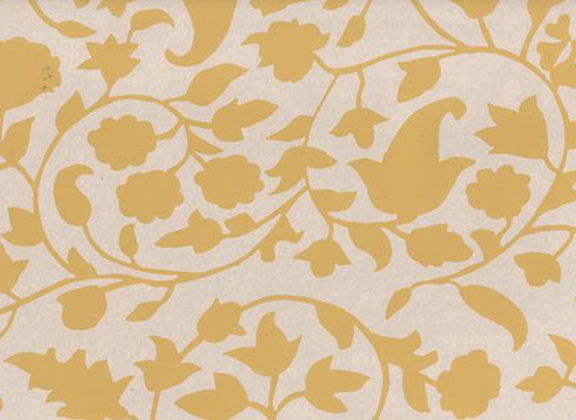 Mally Skok Rohet Wallpaper Yellow (on Neutral)
