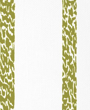 Tillett Textiles Ocelot Stripe Forest Moss