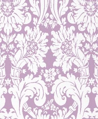 Tillett Textiles Floral Damask Violet