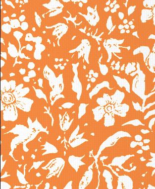 Tillett Textiles Wild Flower Blotch Carrot