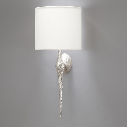 Torchère wall lamp Nickle