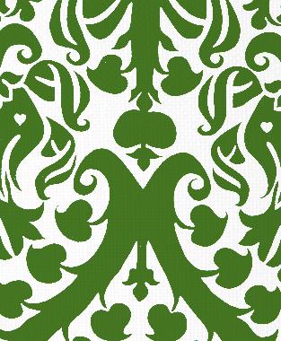 Tillett Textiles Millerton Damask Forest Green