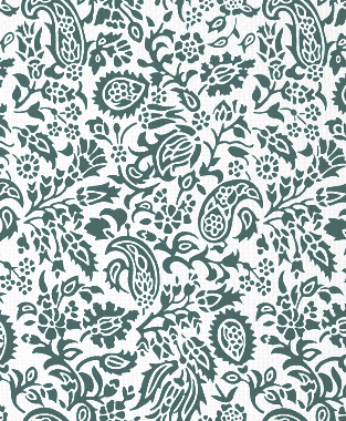 Tillett Textiles Flora Devonshire Deep sea