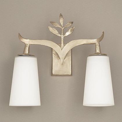 Alia Outdoor Wall Lamp Nickle