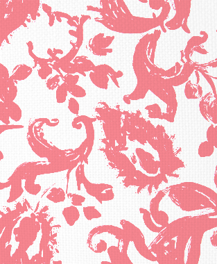 Tillett Textiles Painted Paisley Sorbet