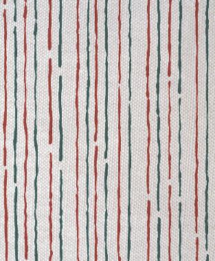 Tillett Textiles Sumac Lines Deep Sea & Deep Coral