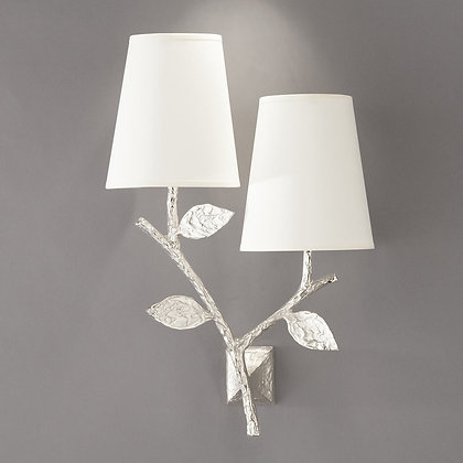 Flora double wall lamp Nickle
