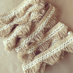 3IN SCALLOPED LACE FRINGE-NATURAL COTTON