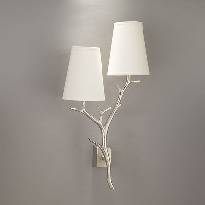 Antler wall lamp Nickle