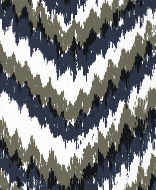 Tillett Textiles Ikat Timer Navy & Acacia