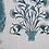 Thumbnail: PARADISE GARDEN Teal UK Natural Linen