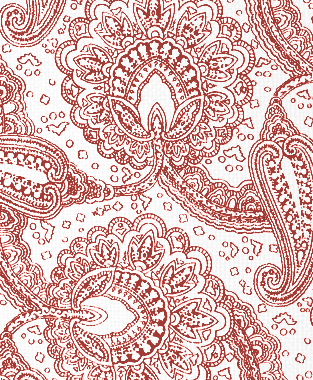 Tillett Textiles Paisley Envinced Deep Coral