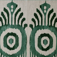 Serena Ikat Emerald Natural