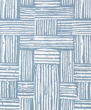 Tillett Textiles Basket Weave JD Blue