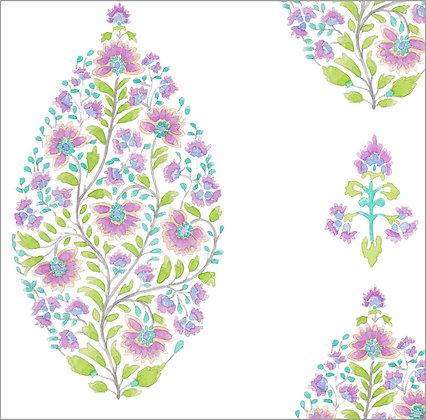 Ferran Textiles Wallpaper Palampore Violet