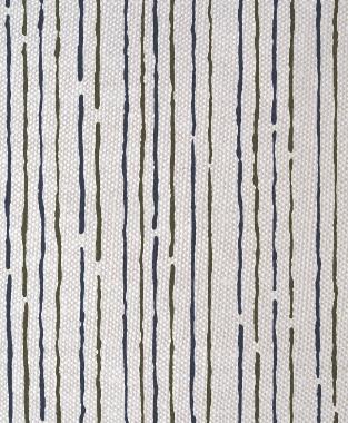 Tillett Textiles Sumac Lines Acacia & Navy