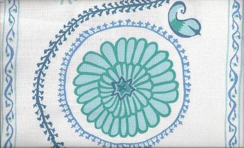 Mally Skok Suzani Luv Blue on White