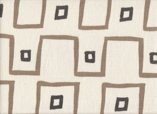 Mally Skok Kuba Cloth Taupe-Charcoal