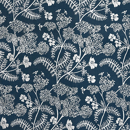 Madder Cutch & Co Achillea Ground Small in Burghley Blue on White