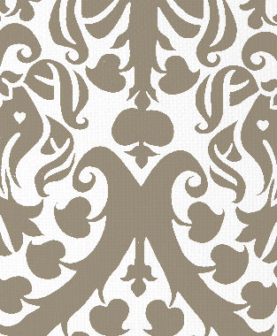 Tillett Textiles Millerton Damask Putty
