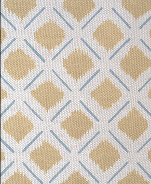 Tillett Textiles Chit Chat Lines Sky & Khaki