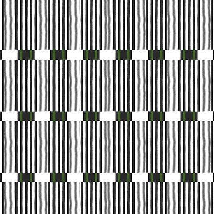 Stoke Lane Check Stripe Charcoal