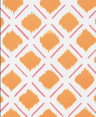 Tillett Textiles Chit Chat Lines Sorbet & Carrot