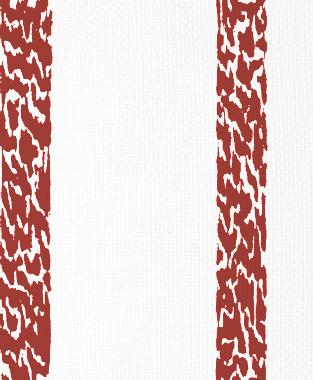 Tillett Textiles Ocelot Stripe Deep Coral