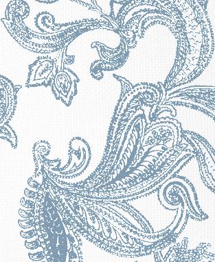 Tillett Textiles Kingston Paisley JD Blue