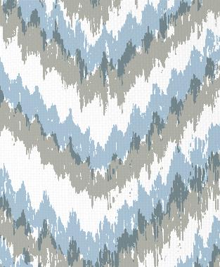 Tillett Textiles Ikat Timer Sky & Sea Haze