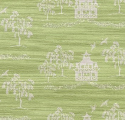 CASA BY P.C.Spring Pagoda Grasscloth in Lime