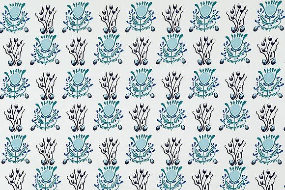Mally Skok Emmie Wallpaper Blue